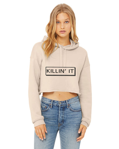 Killin It...Sexy Crop Hooded Sweater - SkinDeepExperience