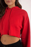 No Promises...Sexy Crop Hooded Sweater - SkinDeepExperience