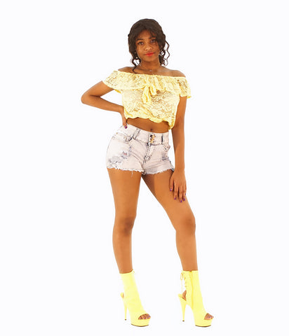 A Trendsetting Pair Of Jean Blue Shorts - SkinDeepExperience