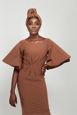 Brown Flair Hand Dress