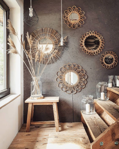 Boho mirrors home decor