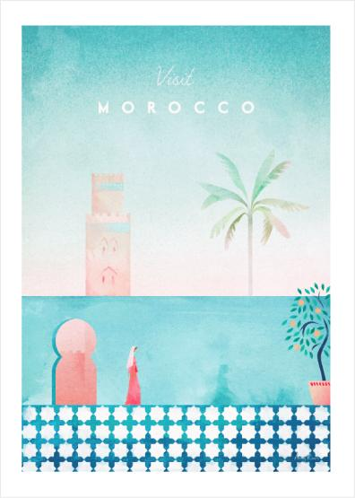 """Visit Morocco"" by Henri Rivers - Canva"