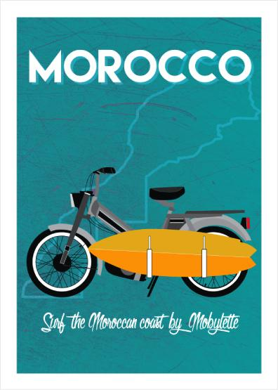 """Moped"" by GM - Canva"
