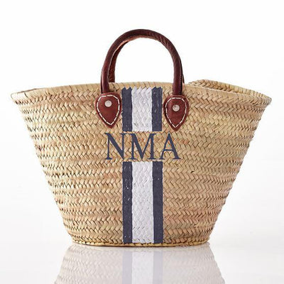 Customizable Monogram Straw Bag
