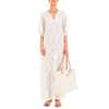 CHARLIE Off-White Lace Kaftan