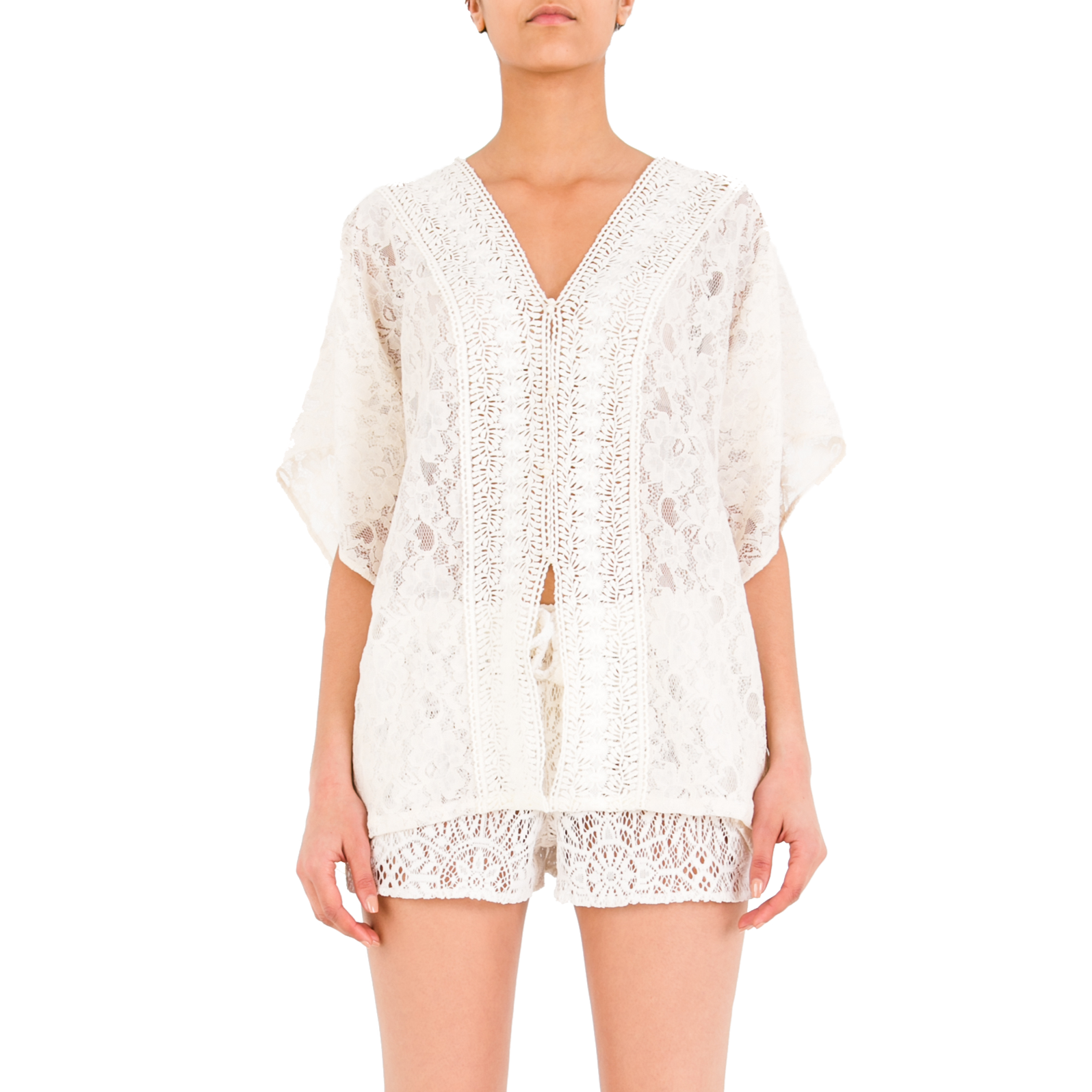 MARIELA Off-white Lace Top