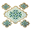 Arabesque Serving Tray with Coasters
