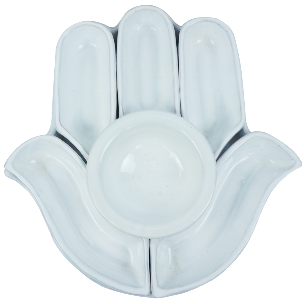 Hand-Shaped Hamsa Apetizer Plate