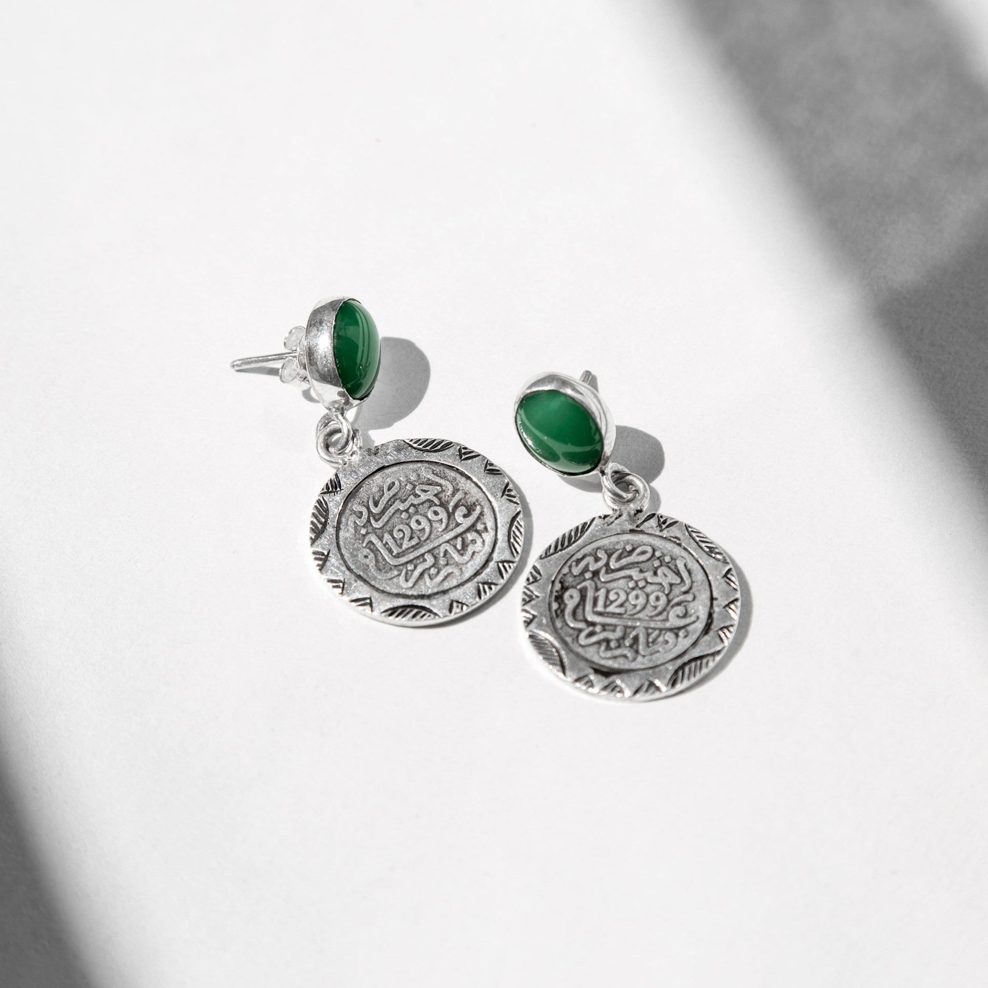 Mint Tea Coins Earrings