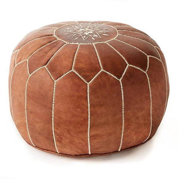Moroccan leather pouf Berbere