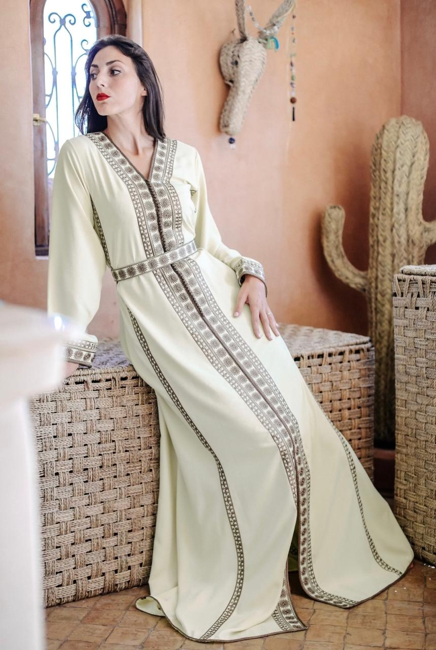 Pastel Yellow Kaftan