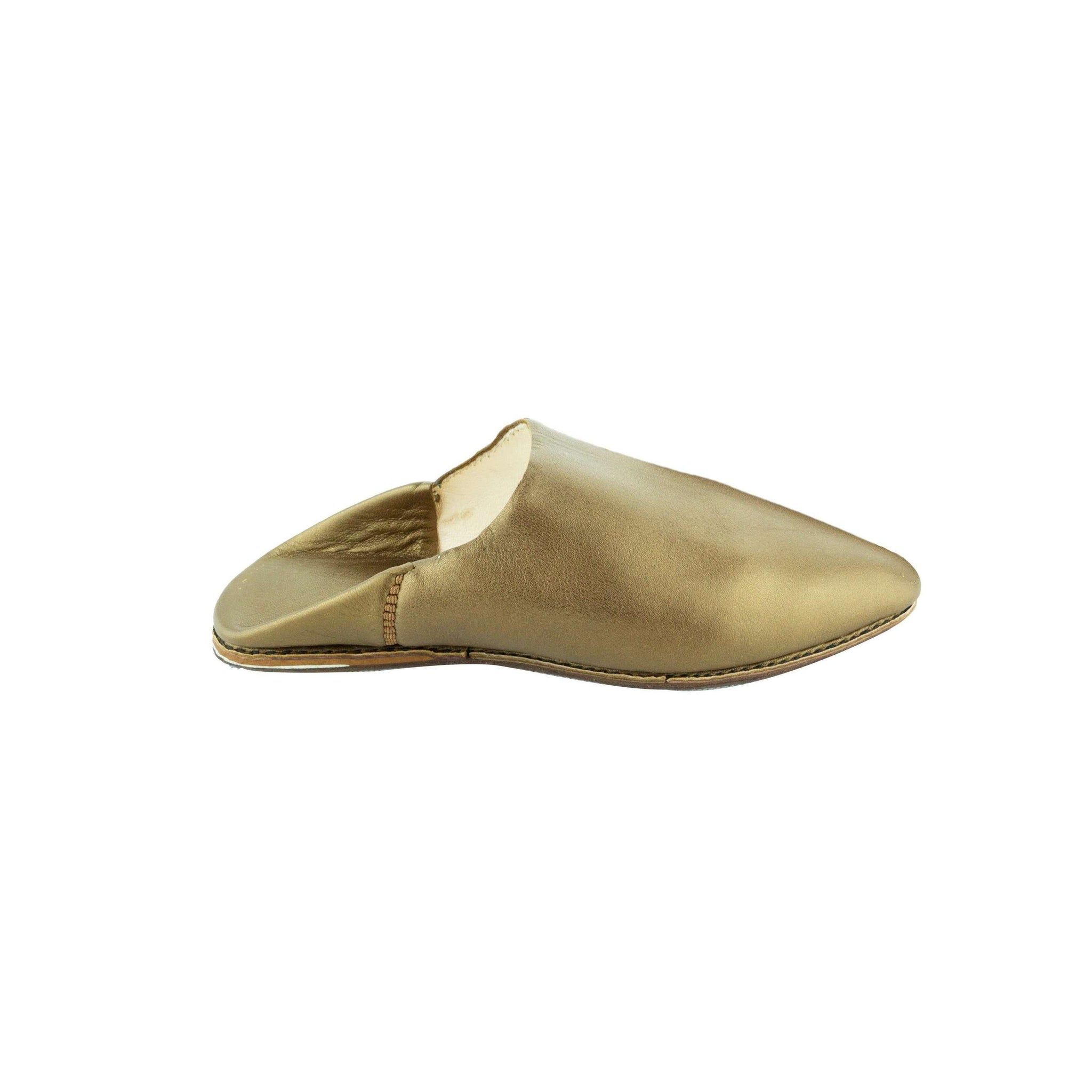 Women Moroccan Slipper in Gold