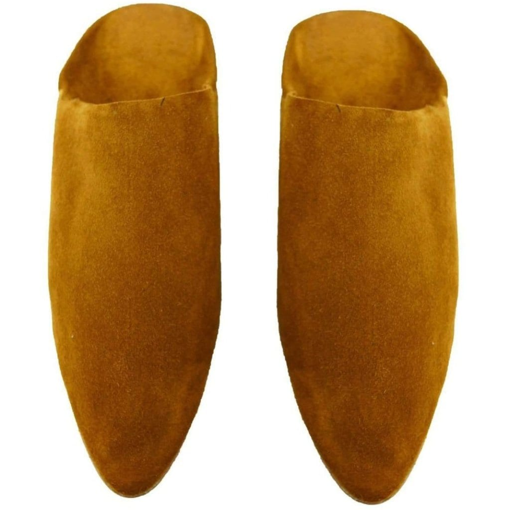 Men's Moroccan Slipper in Suede Camel