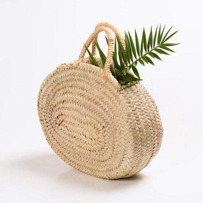 ANA - Oval Straw Bag Basket - Beach & Grocery, Shopping Bag