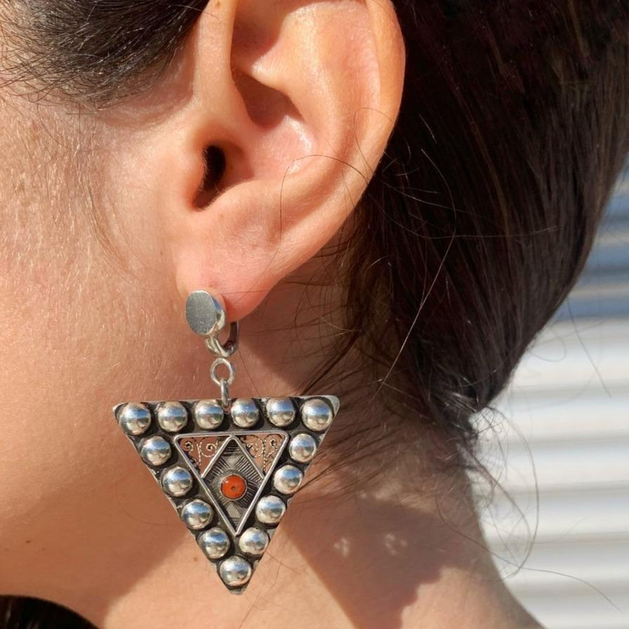 Fibula Studs Earrings