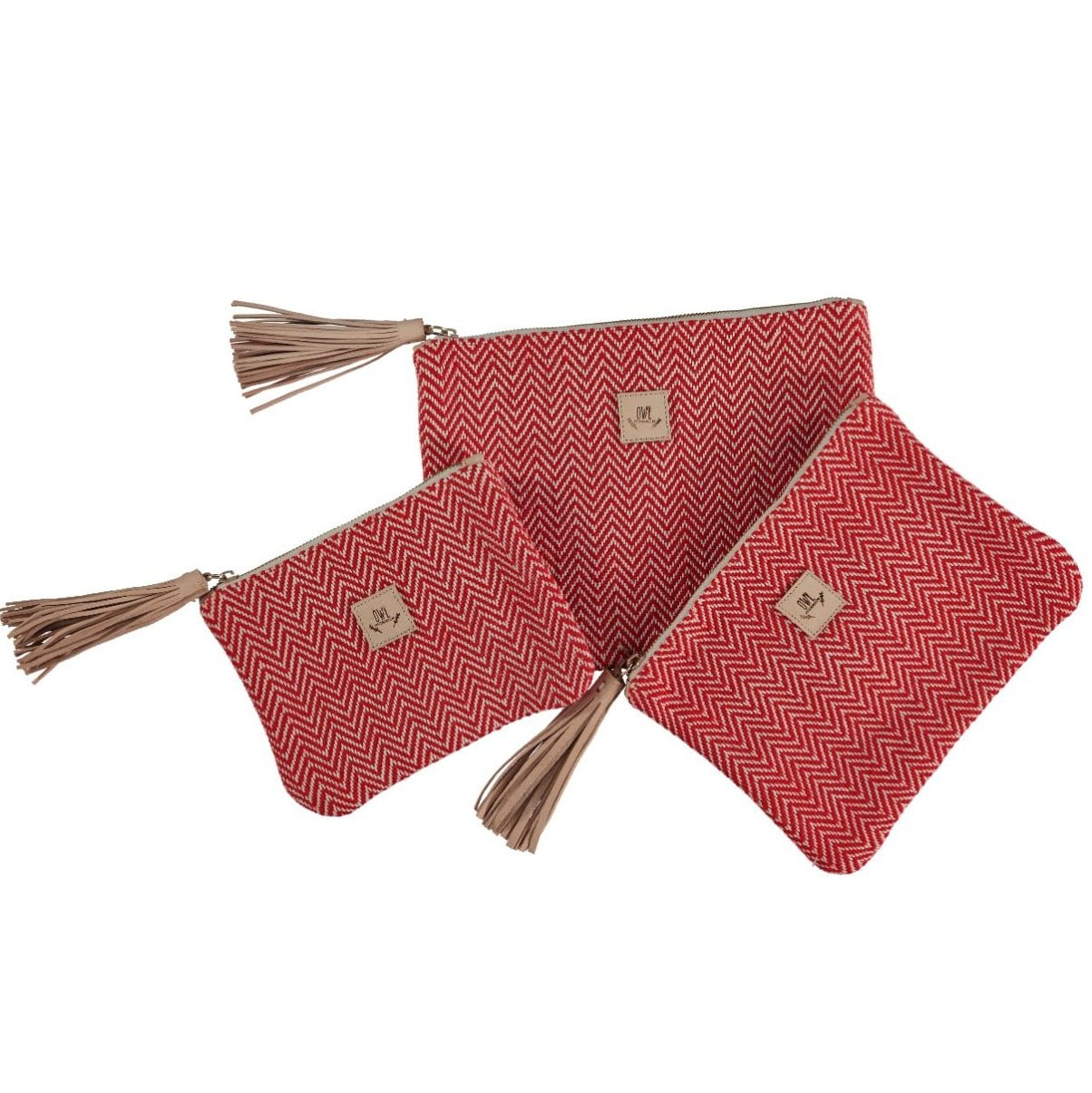 WOVEN Pouch Red