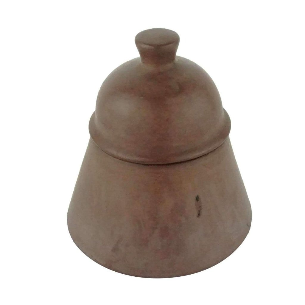 Brown Moroccan Terracotta Tin Pot with Lid Malo