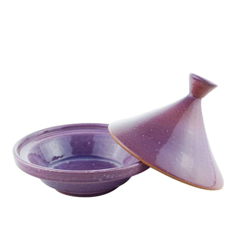 Small Purple Moroccan Terracotta Tagine Zarane