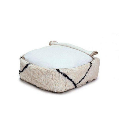 Beni Ourain Black and White Ottoman