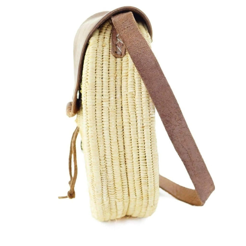 Moroccan Wicker Shoulder Strap Bag