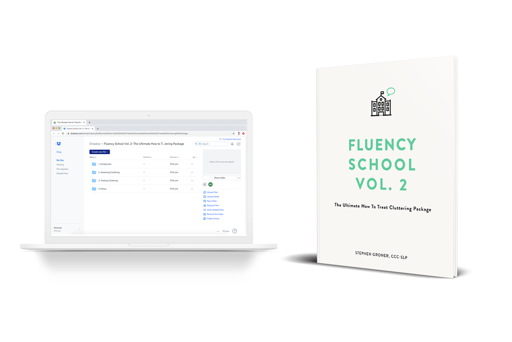Fluency School Vol. 2: The Ultimate How to Treat Cluttering Package