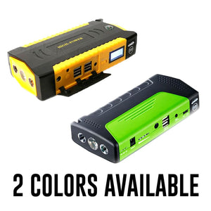 Car Rescue Jump Starter With Phone Charger - Green
