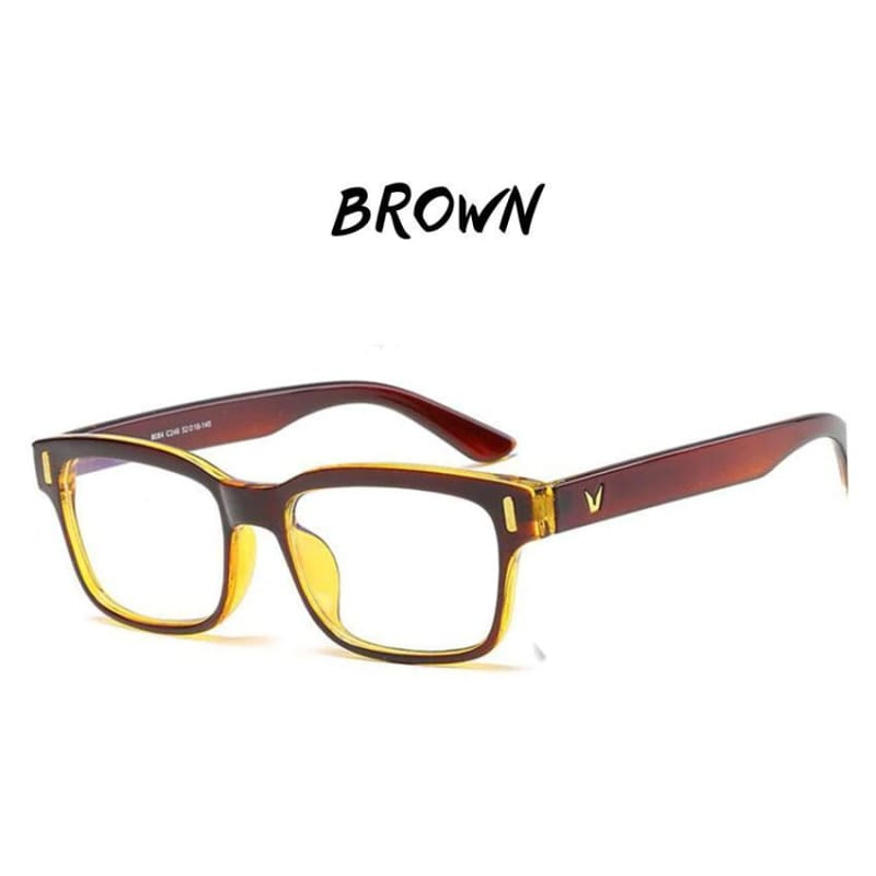 Gamma Rays - Crystal Clear Gaming Glasses With 100% Uv Protection - Brown