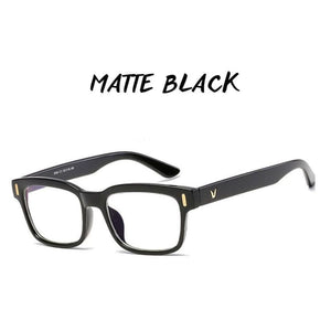 Gamma Rays - Crystal Clear Gaming Glasses With 100% Uv Protection - Matte Black