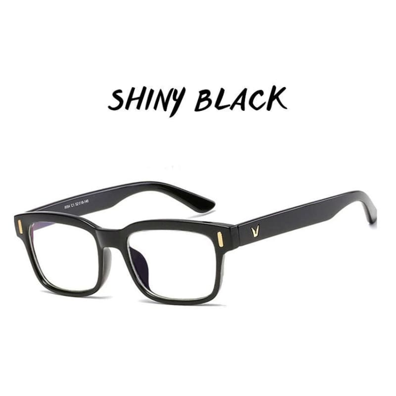 Gamma Rays - Crystal Clear Gaming Glasses With 100% Uv Protection - Shiny Black