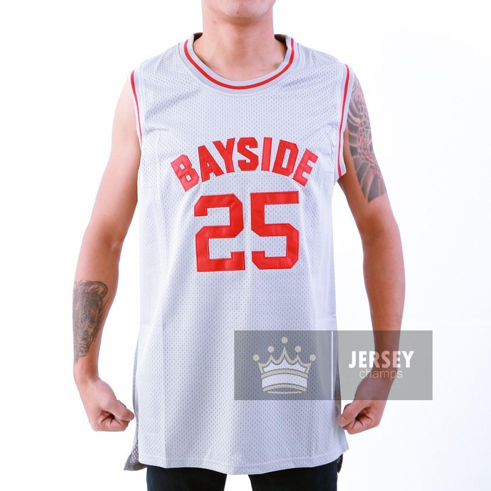 bfa2f4836 The Bell Zack Morris Bayside Tigers Basketball Jersey Stitched Gray - Jersey  Champs - Custom Basketball