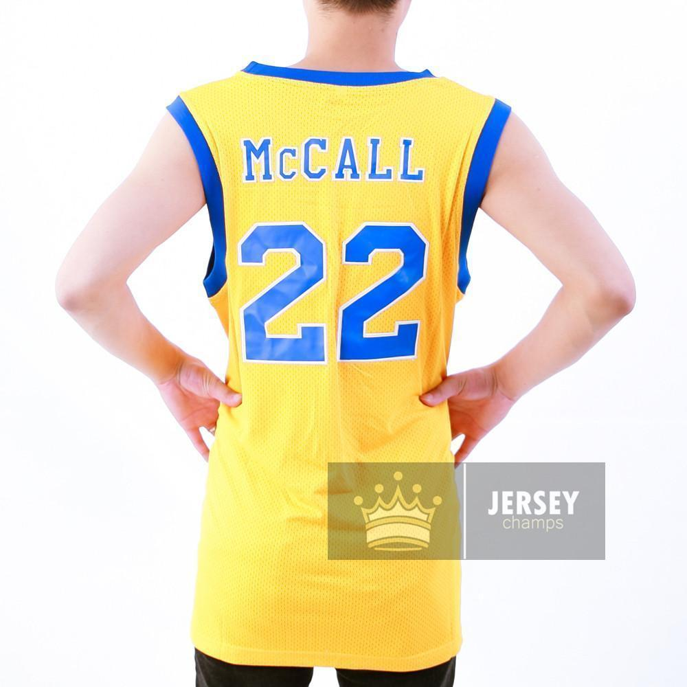 Love and Basketball Quincy Zeke McCall Crenshaw High School Basketball Jersey Yellow #22 - Jersey Champs - Custom Basketball, Baseball, Football & Hockey Jerseys