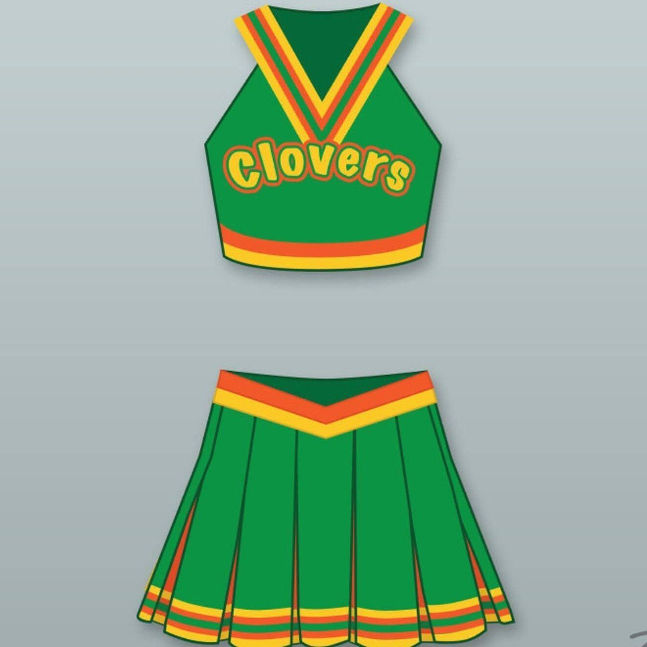 East Compton Clovers Cheerleader Uniform - Jersey Champs - Custom Basketball, Baseball, Football & Hockey Jerseys