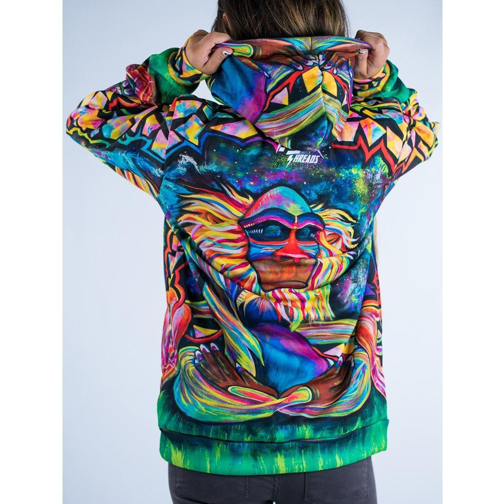 Meditating Rafiki Trippy Hoodie - Jersey Champs - Custom Basketball, Baseball, Football & Hockey Jerseys