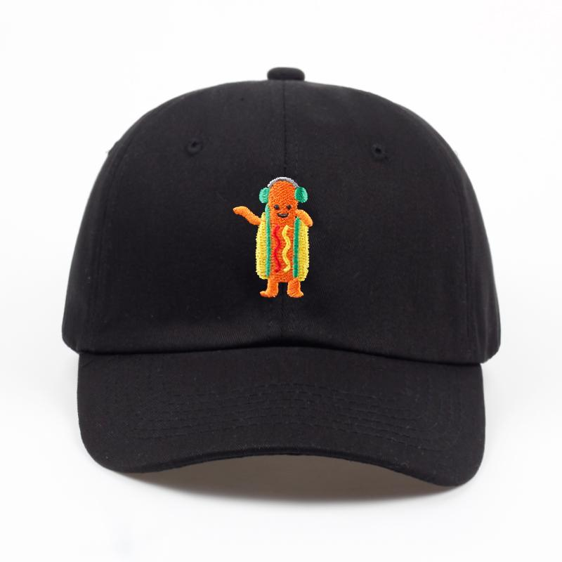 Dancing Hot Dog Snapchat Dad Hat - Jersey Champs - Custom Basketball, Baseball, Football & Hockey Jerseys