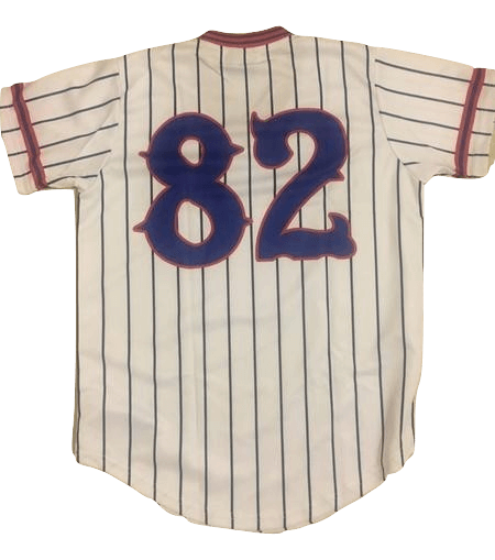 David Spade Benchwarmers Pinstriped Baseball Jersey  Richie Goodman #82 Shirsey