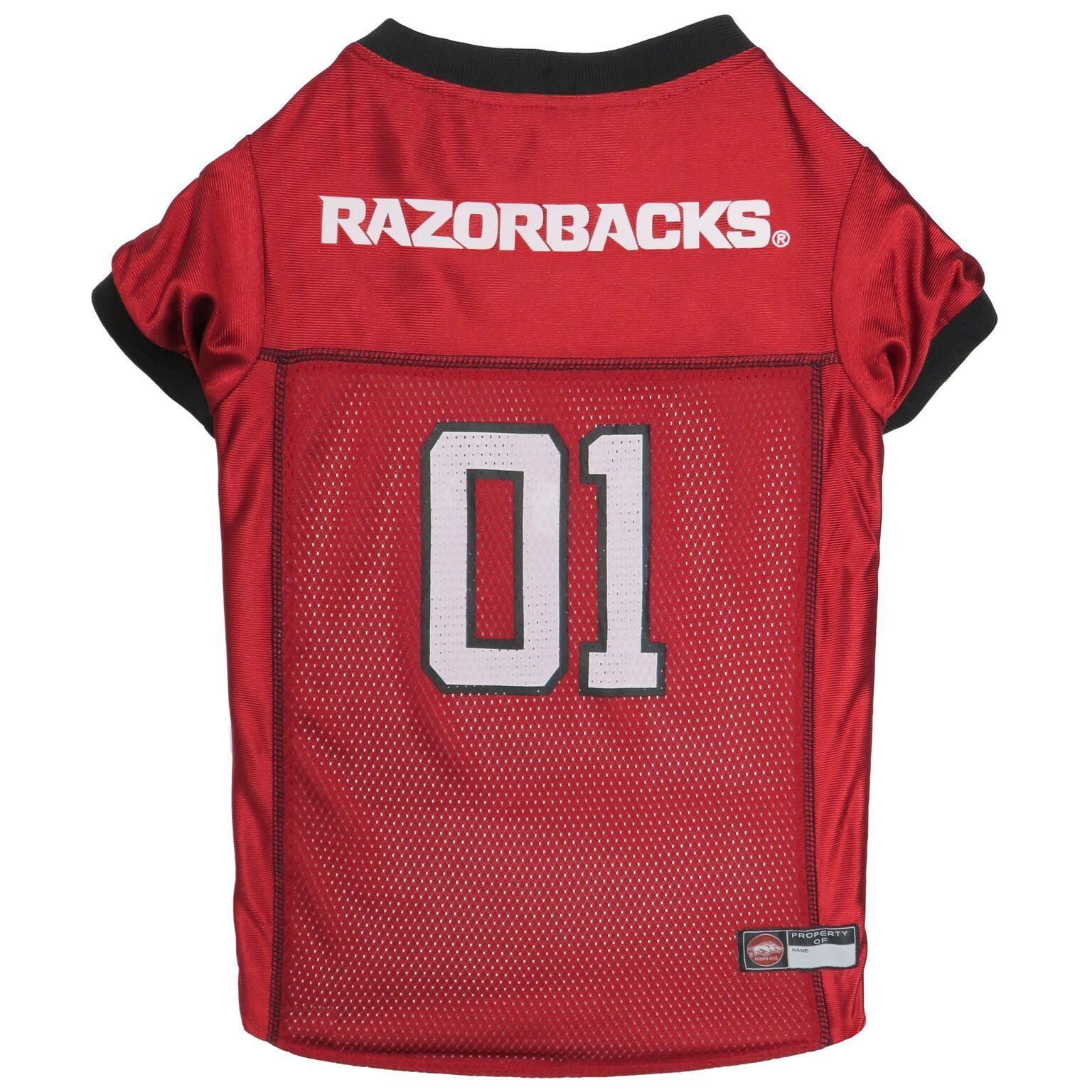 Arkansas Razorbacks Puppy Dog Football Jersey - Jersey Champs