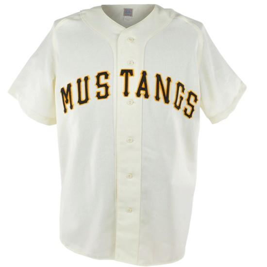 Billings Mustangs 1954 Home JerseyStiched Baseball Jersey - Jersey Champs