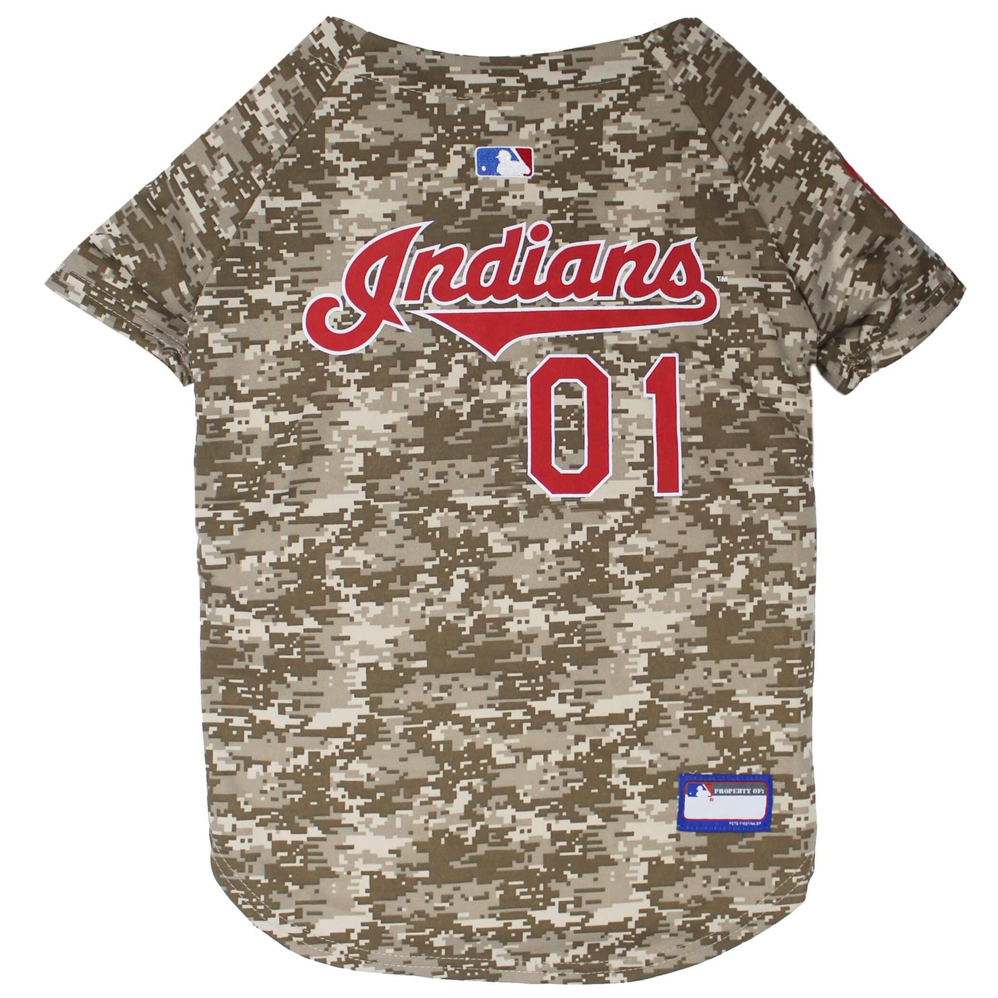 Cleveland Indians Camo Baseball Jersey - Jersey Champs