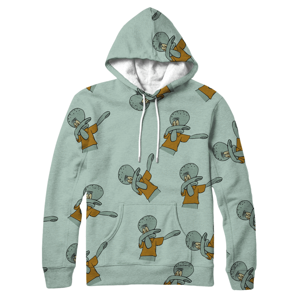 Squidward Dab Hoodie - Jersey Champs - Custom Basketball, Baseball, Football & Hockey Jerseys