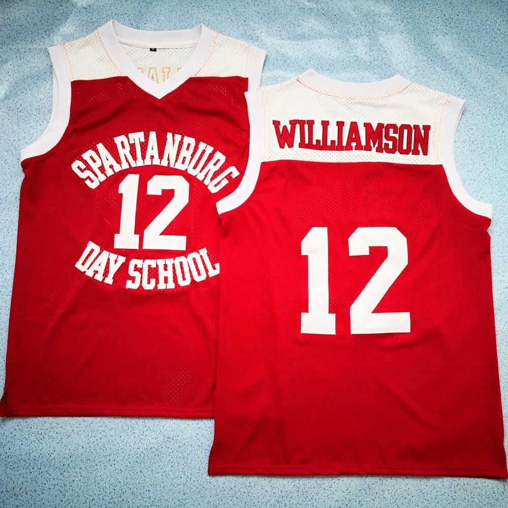 Zion Williamson Spartanburg Day School 12 Basketball Jersey