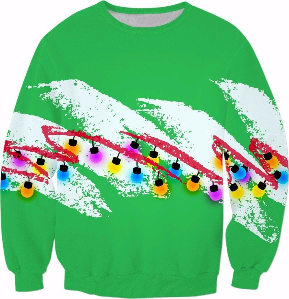 90s Christmas Paper Cup Sweater - Jersey Champs green_gallery