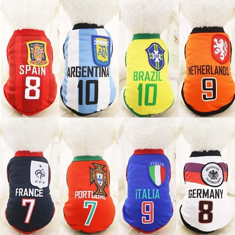 825b1f708a3 World Cup Soccer Dog Puppy Jersey Costume - Jersey Champs - Custom  Basketball