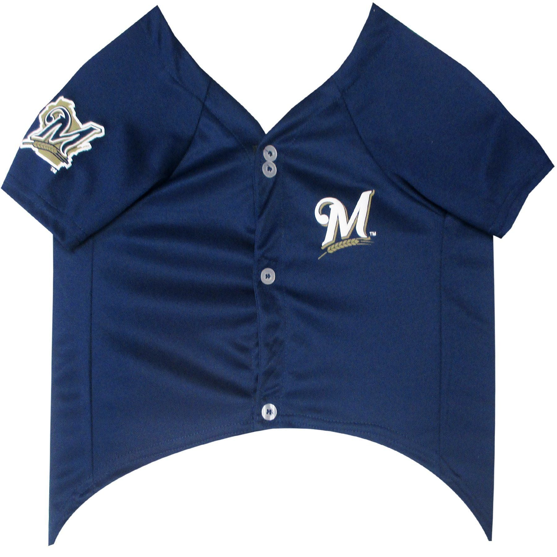 Milwaukee Brewers Puppy Dog Baseball Jersey - Jersey Champs - Custom Basketball, Baseball, Football & Hockey Jerseys