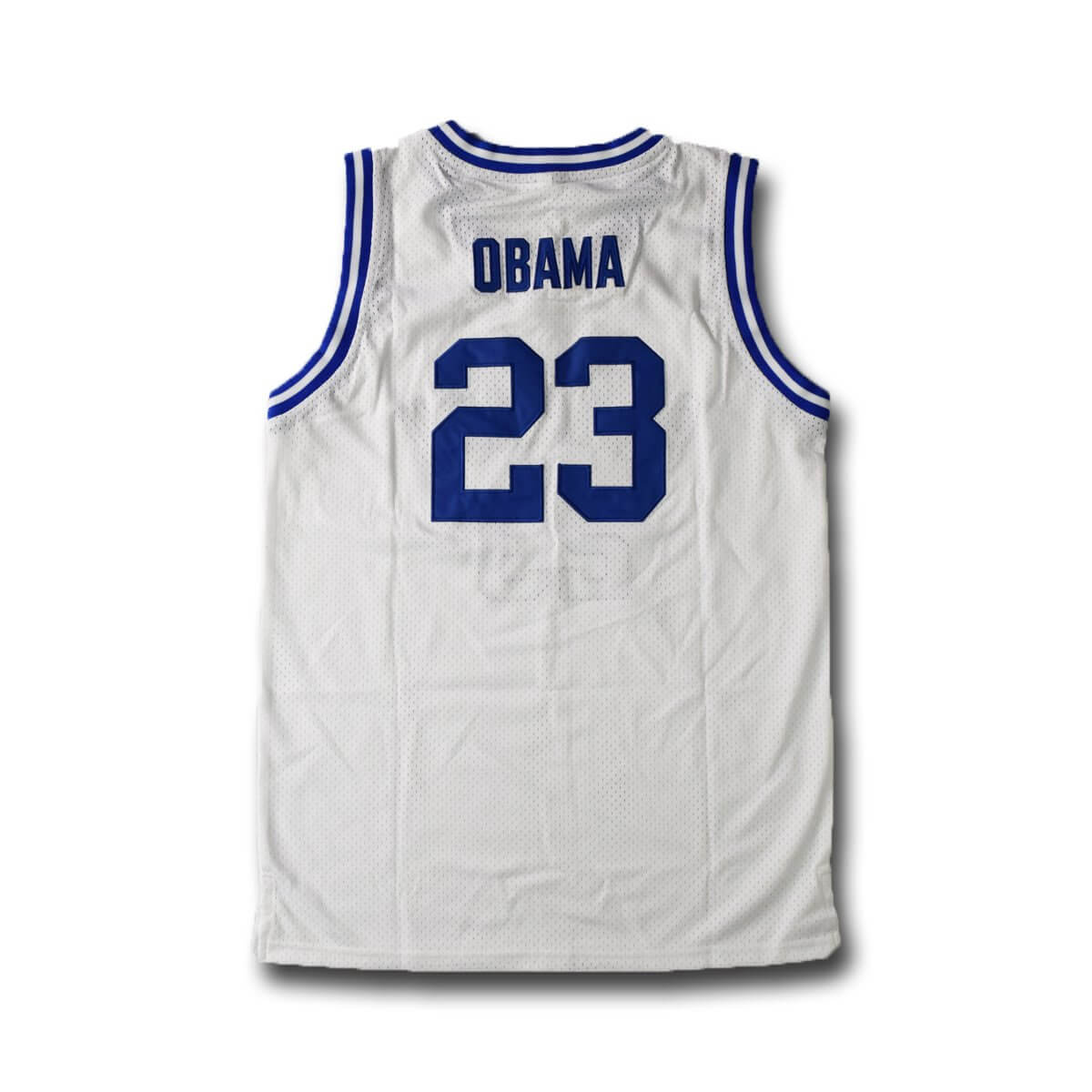 Barack Obama Punahou High School Basketball Jersey Blue Stitched