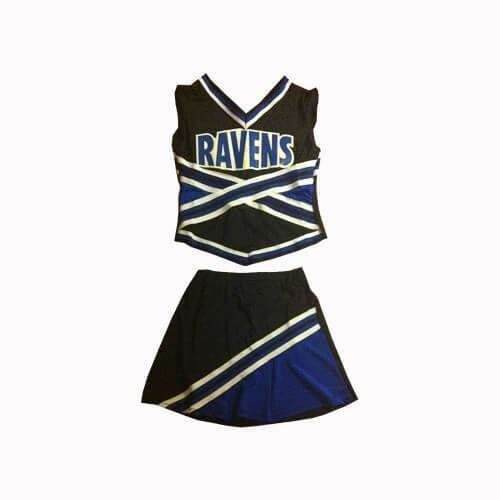 One Tree Hill Ravens Cheerleader Uniform - Jersey Champs - Custom Basketball, Baseball, Football & Hockey Jerseys