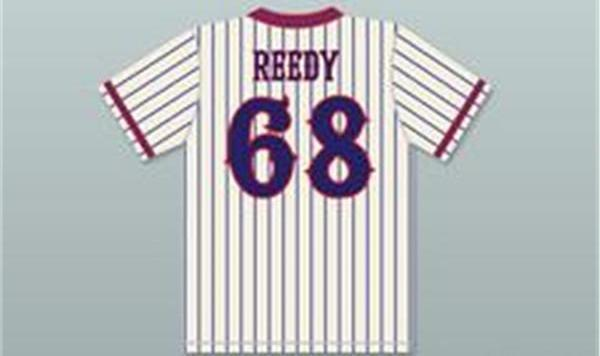 Benchwarmers Pinstriped Baseball Jersey  Richie Goodman 82 Clark Reedy 68 Mel Carmichael 24 Marcus Ellwood 3 - Jersey Champs