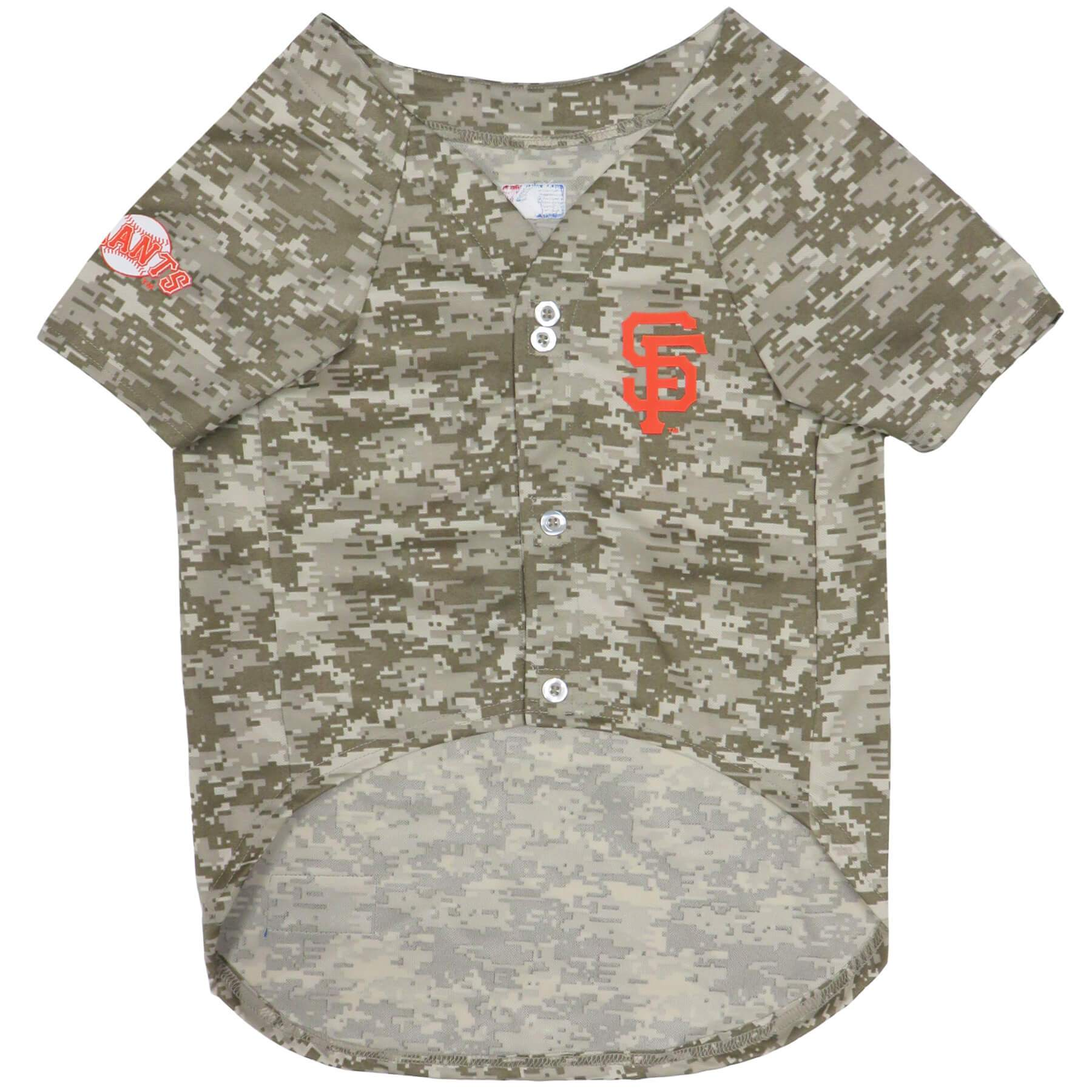 San Francisco Giants Camo Baseball Jersey