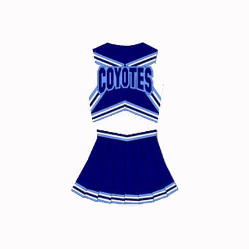 Varsity Blues West Canaan High School Coyotes Cheerleader Uniform - Jersey Champs - Custom Basketball, Baseball, Football & Hockey Jerseys