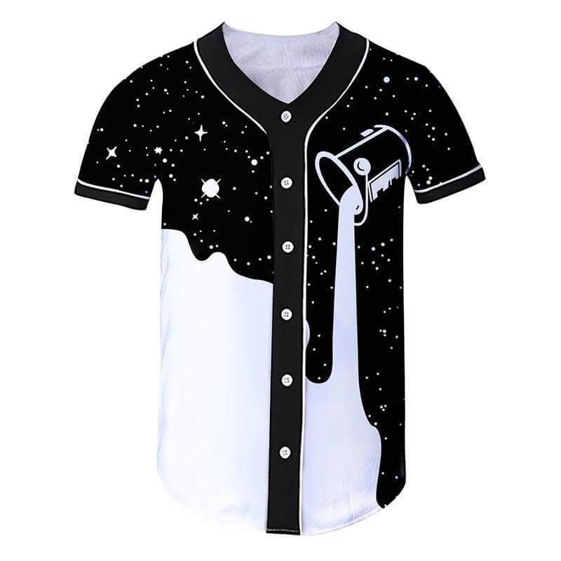 Space Paint Baseball Jersey