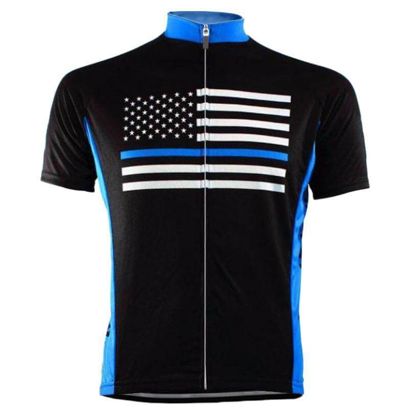 Blue American Flag Cycling Jersey - Jersey Champs
